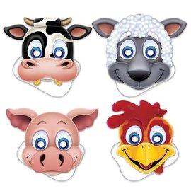 Masks - Farm Animals - 4 Pieces