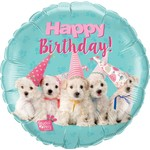 "Foil Balloon - 18"" - Happy Birthday Dogs"