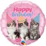 "Foil Balloon - 18"" - Happy Birthday Cats"