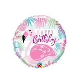 Foil Balloon - 18 inch - Happy Birthday Flamingo