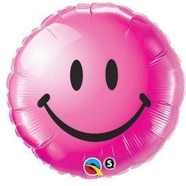 "Foil Balloon - 18"" - Pink Smile Face"