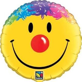 "Foil Balloon - 18"" - Smile Face Clown"