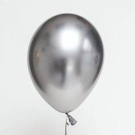 "Latex Balloons - Chrome Silver - 11"""