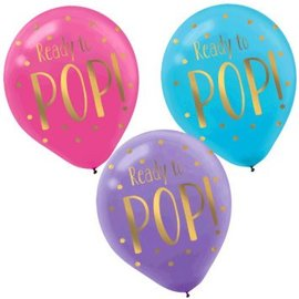 """Ready To Pop"" Latex Balloons, 6ct."