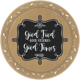 "Beverage Paper Plates- Homemade and Delicious- 8pk/7""/Discountinued/Final Sale"