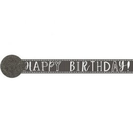 Paper Crepe Streamers-Happy Birthday Chalk