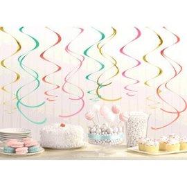 "Decorations Swirl Pastel- 12pcs- 22"""