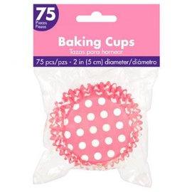 Baking Cups - Pink Polka Dots (75PCS)