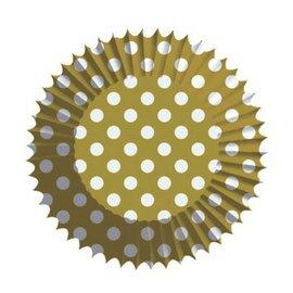 Baking Cups - Polka Dots Gold (75PCS)