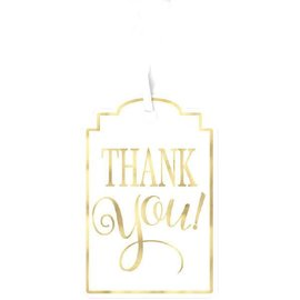 Tags-Thank You-White and Gold-25pk