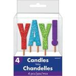 Candle Pick - YAY! - Glitter