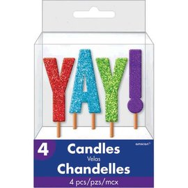 Candle Pick - YAY! - Glitter