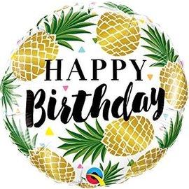 Foil Balloon - Happy Birthday Pineapple