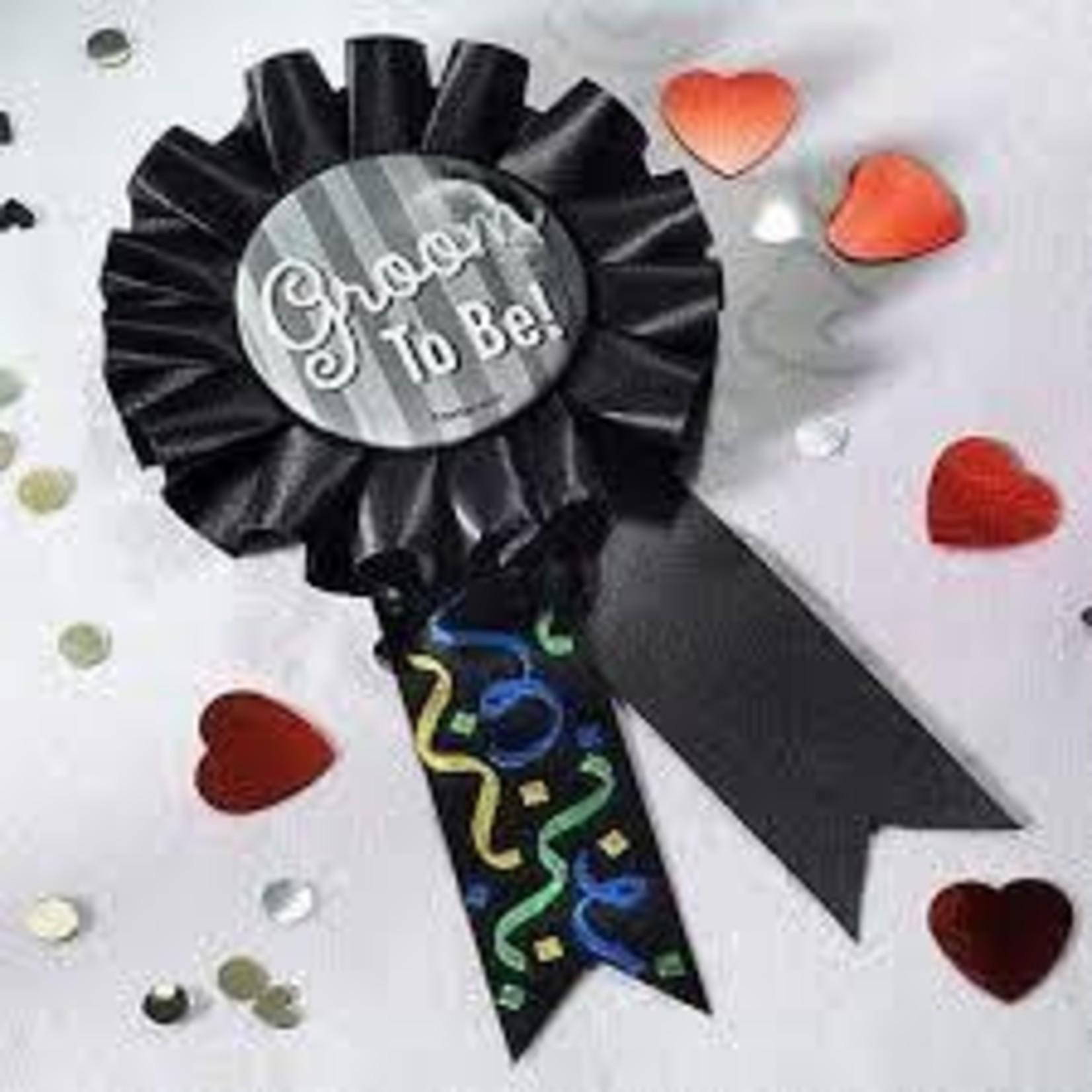 "Award Ribbon - Groom To Be - 5.5"""