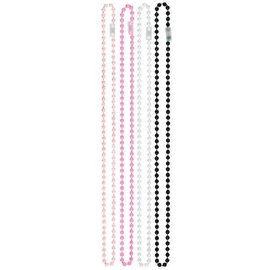 Bead Necklace - Pearl, Pink, White and Black
