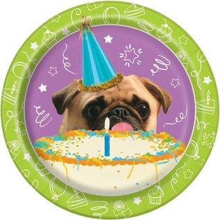 Plates Bev - Pug Puppy Birthday