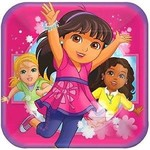 """Luncheon Paper Plates-Dora and Friends-8pk-9"""""""