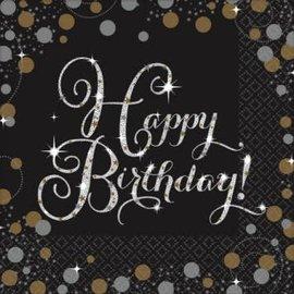 Napkins Happy Birthday Sparkling Celebration