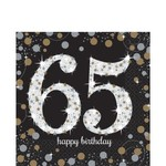 Napkins - LN - 65th Sparkling Celebration -16pkg - 2ply