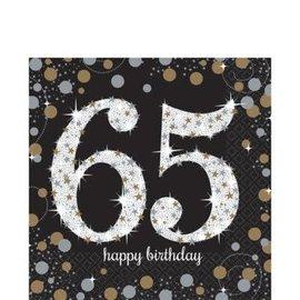 Luncheon Napkins- 65th Sparkling Celebration