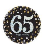 Beverage Plates- Sparkling Celebration 65th