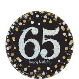 Plates Bev Sparkling Celebration 65th