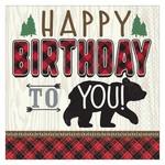 Lunch Napkins- Little Lumberjack Birthday- 16pk/2ply