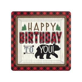 "Lunch Paper Plates- Little Lumberjack Birthday- 8pk/7"""
