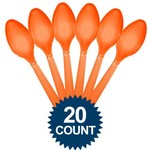 Cutlary - Spoons Orange 20Pk - Premium Quality