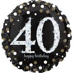 """Foil Balloon- Jumbo- 40th Birthday- 28"""""""