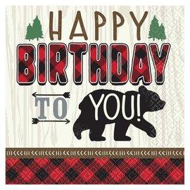 Beverage Napkins- Little Lumberjack Birthday- 16pk/2ply
