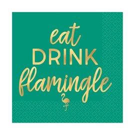 Beverage Napkins- Eat Drink Flamimgle