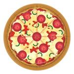 "Beverage Paper Plates- Pizza Party- 8pk/7"""