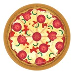 """Lunch Paper Plates- Pizza Party- 8pk/9"""""""