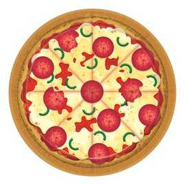 Lunch Paper Plates- Pizza Party- 8pk/9""