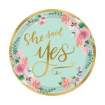"""Beverage Paper Plates- Mint To Be- 8pk/7"""""""