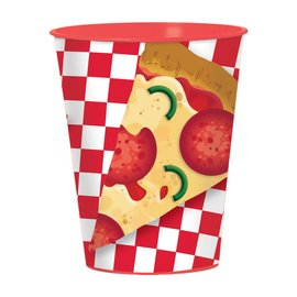 Cups- Plastic- Pizza Party- 16oz