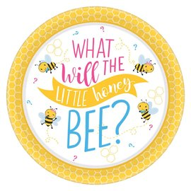 Beverage Paper Plates- What Will It Bee?- 8pk-7""