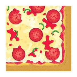 Lunch Napkins- Pizza Party- 16pk/2ply