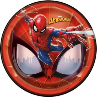 """Lunch Paper Plates- Spiderman- 8pk/8.625"""""""