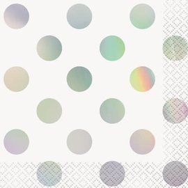 Beverage Napkins- Iridescent Dots