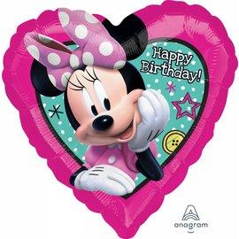 "Foil Balloon - Minnie Happy Birthday - 18"""