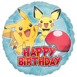 Foil Balloon - Pokemon Happy Birthday - 18""