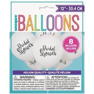 "Balloons-Latex-Bridal Slower-12""(8PK)"