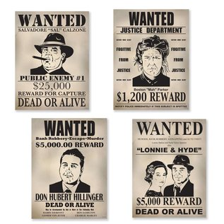 Cutouts - Gangster Wanted Sign