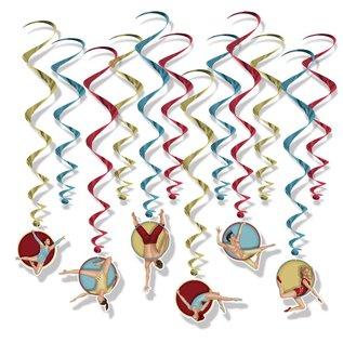 Hanging Decorations - vintage Circus Whirls