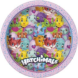 "Luncheon Paper Plates-Hatchimals-8pk-8.625""-Discontinued"