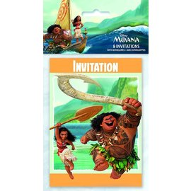 Invitations- Moana- 8pk