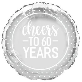 Foil Balloon- Cheers to 60 Years- 18""