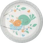 "Beverage Paper Plates- Hello Baby Boy-8pk-7"""